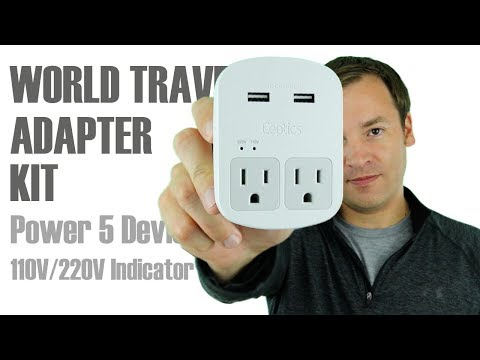 Best International Power Adapter? - Ceptics World Travel Adapter Kit with USB Review