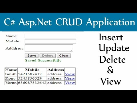 C# Asp.Net-Insert Update Delete And View With Sql Server Database Mp3