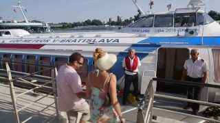 preview picture of video 'Danube Cruises Vienna - Bratislava by hydrofoil (since 1964)'