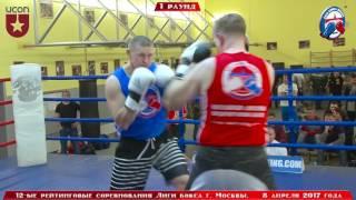 12-е рейтинговые бои Лига бокса г. Москвы  – 08.04.17 г. 91+ кг.