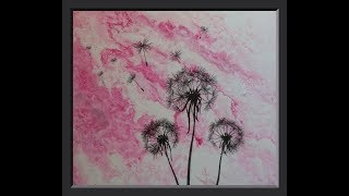 Can You Make An Image Transfer Over Your Acrylic Pouring Painting? YES!