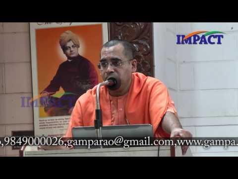 Human Excellence | Swami Bodhamyananda |TELUGU IMPACT Hyd August 2016