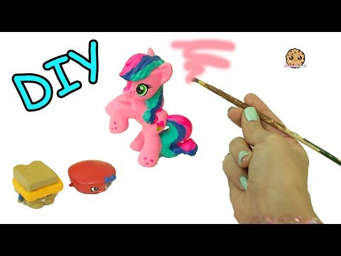 Custom Painting My Little Pony + Shopkins With Acrylic Paint – DIY Craft Video
