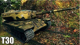 Мастер на пт Т30 🌟 ГРАМОТНЫЙ БОЙ 🌟 карта: Топь World of Tanks лучший бой