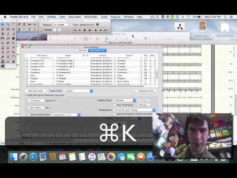 In this video, I teach you how to add or edit instruments using the Score Manager in Finale.