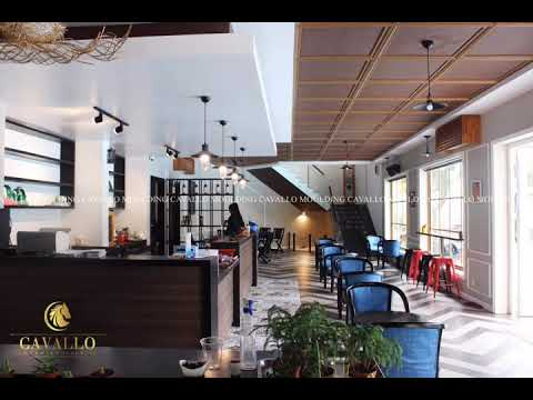 Xu hướng trang trí quán cafe với phào chỉ nhựa Hàn Quốc