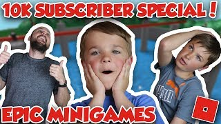 10k Subscriber Special / Roblox Epic Minigames / Simas Gust And Dad Celebrating / Sub Counter