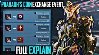 PUBG KOREA VERSION GOLDEN PHARAOH X SUIT UPGRADE COIN EXCHANGE EVENT  FULL EXPLAIN  KOREA VERSION