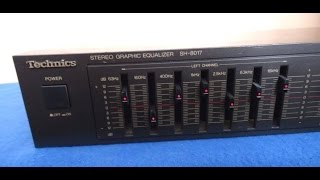 Technics SH-8017 Stereo Graphic Equalizer __________ Sn- 0A4LB28109
