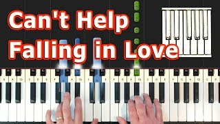 """Video thumbnail of """"Can't Help Falling In Love - Piano Tutorial - Elvis Presley  (Synthesia)"""""""