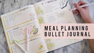 BULLET JOURNAL IDEAS | How To Meal Plan | ANN LE