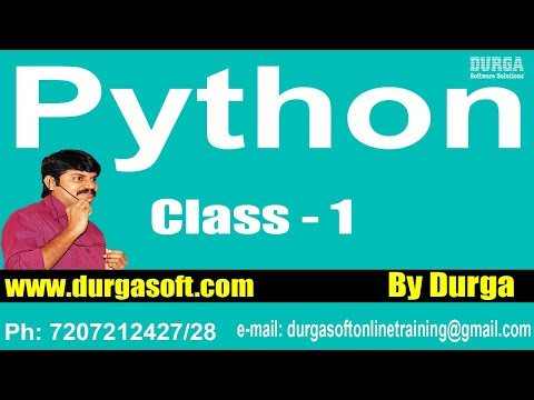 Learn Python Programming Tutorial Online Training by Durga Sir On 26-01-2018