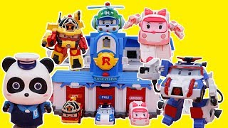 Robocar Poli Rescues Baby Panda | Police Car, Super Fire Truck | 🔥Fire safety with Roy | ToyBus
