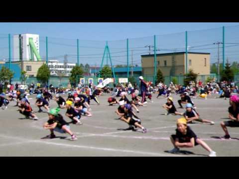 運動会でのよさこいソーラン・2010 05 29