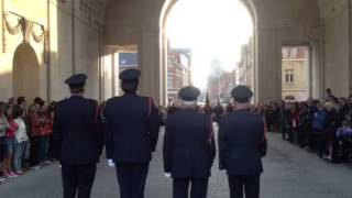 preview picture of video 'Menin Gate, Ypres -The Last Post Commemoration.  Least We Forget.'