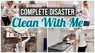 CLEAN WITH ME 2019 // COMPLETE DISASTER CLEANING MOTIVATION // ORGANIZE + DECLUTTER