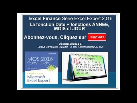 Excel 2016 : Calculer nouvelles dates avec DATE , ANNEE, MOIS