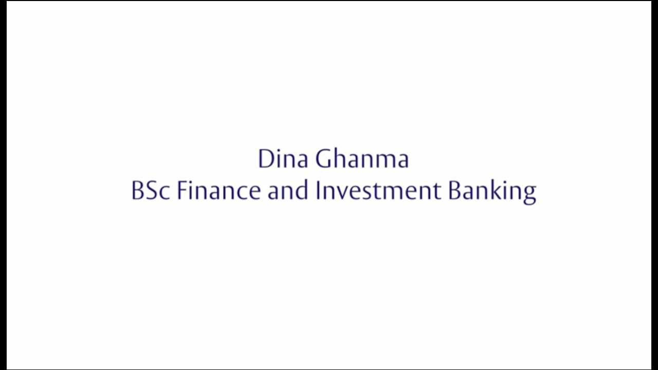 Henley Challenge 2015 - Dina Ghanma, BSc Finance & Investment Banking