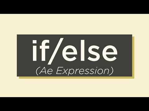 If Else Conditional Expression – Adobe After Effects tutorial