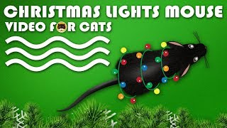 CAT GAMES - Christmas Lights Mouse! Mice Video for Cats to Watch.