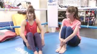 #モアチャレリポート内田理央の「キックボクシング」チャレンジ!格闘女王RENAさんにキックの基本を学ぶ!