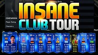 INSANE CLUB TOUR!! FIFA 15 Ultimate Team!!