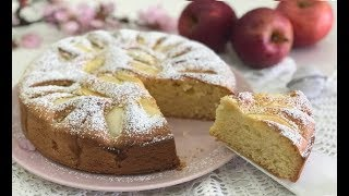 Torta di mele semplice della nonna, pronta in 5 minuti - Easy Homemade Apple Cake recipe