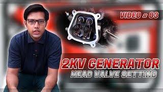 Generator head valve setting in (Urdu/ Hindi) Video # 3