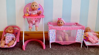 Baby Born Baby Annabell 3-in-1, 4-in-1 Nursery center compilation, pretend play with Baby Dolls