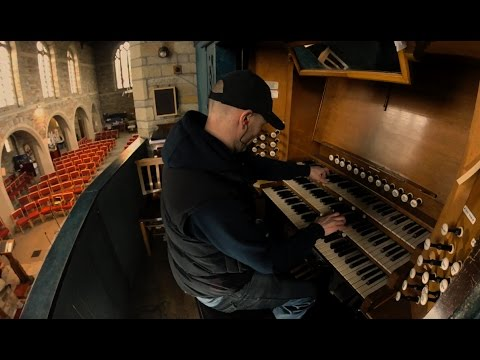 Cover of Hans Zimmer's Interstellar music on a pipe organ in a stone church