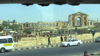 preview picture of video 'Jerash, the Gerasa,  Jordan - The Arch of Hadrian ג'רש, ירדן - שער הדריאנוס (אדריאנוס)'