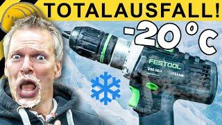 AKKUSCHRAUBER BEI -20 GRAD - EXTREM TEST & ÜBERRASCHUNG  | WERKZEUG NEWS #125