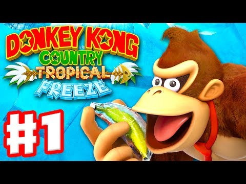 Download Donkey Kong Country: Tropical Freeze - Gameplay Walkthrough Part 1 - World 1: Lost Mangroves 100% HD Mp4 3GP Video and MP3