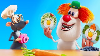 Booba -  Eggy Faces 🍳 Food Puzzle - Cartoon For Kids Kedoo ToonsTV
