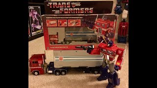 TRANSFORMERS AUTOBOT G1 OPTIMUS PRIME VS TAKARA MP-4 MASTERPIECE OPTIMUS PRIME UNBOXING TOY REVIEW