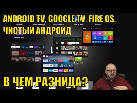ЧЕМ ОТЛИЧАЕТСЯ ANDROID TV ОТ GOOGLE TV, ЧИСТОГО АНДРОИДА И FIRE OS НА СМАРТ ТВ БОКСАХ?
