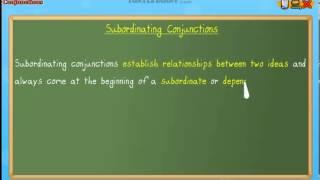 Subordinating Conjunctions - Grammar Lesson for Grade 3