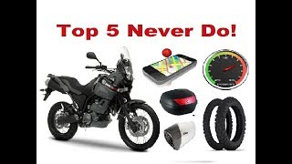Top 5 Things You Should Never do on a Long Motorcycle Trip!