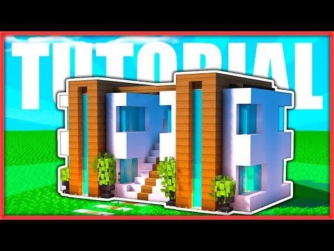 cÓmo hacer una casa moderna doble fÁcil en minecraft tut