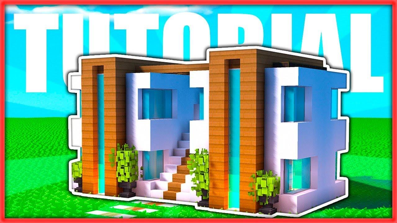 C mo hacer una casa moderna doble f cil en minecraft for Casa moderna 9 mirote y blancana