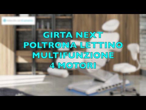 GIRTA NEXT Poltrona lettino 4 motori termoriscaldata con regolazione lombare