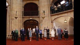 """Audiencia a los galardonados cono las """"Medallas de Asturias 2021"""""""
