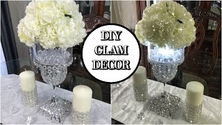 DIY GLAM CENTERPIECE DECOR FOR SPRING/SUMMER 2020 | DIY BLING WEDDING DECOR DIY DOLLAR STORE DECOR