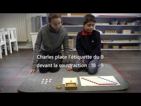 Méthode Montessori : les soustractions