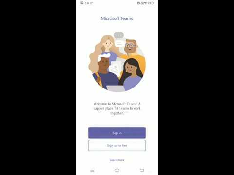 Joining online classes using Microsoft Teams on Android