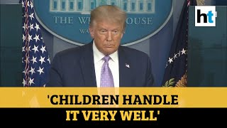 Children handle covid very well: Trump defends video blocked by Twitter & FB  IMAGES, GIF, ANIMATED GIF, WALLPAPER, STICKER FOR WHATSAPP & FACEBOOK