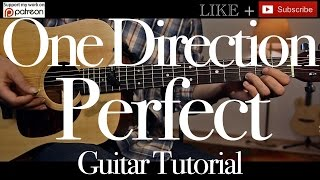 One Direction - Perfect Guitar Tutorial / Guitar Lesson/How to play/easy chords and strumming