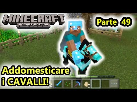 Minecraft PE - Addomesticare i cavalli! - Android - (Salvo Pimpo's)
