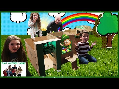 Leprechaun Billionaire Box Fort Mansion / That YouTub3 Family