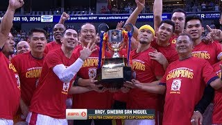 [Sport5]  2018 PBA Commissioner's Cup championship ceremony | PBA Commissioner's Cup 2018